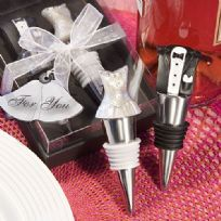 Bride And Groom Wine Bottle Stopper